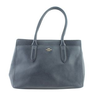 Coach Bailey Carryall Blue Leather Tote 167716